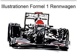 Abbildung von Kraus | Illustrationen Formel 1 Rennwagen (Wandkalender 2019 DIN A2 quer) | 5. Edition 2018 | 2018