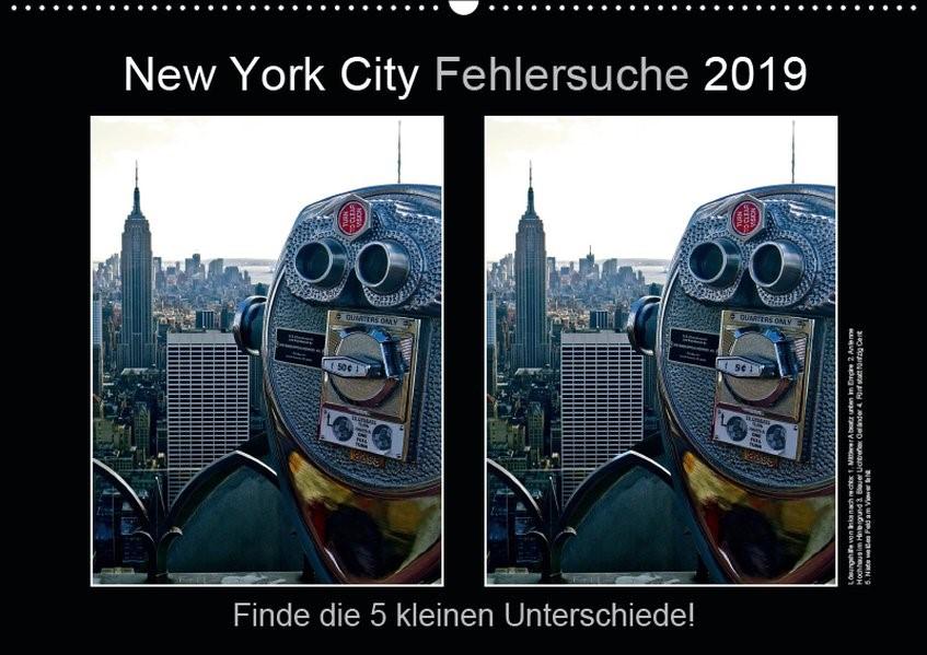 Abbildung von © Mirko Weigt | New York City Fehlersuche 2019 (Wandkalender 2019 DIN A2 quer) | 5. Edition 2018 | 2018