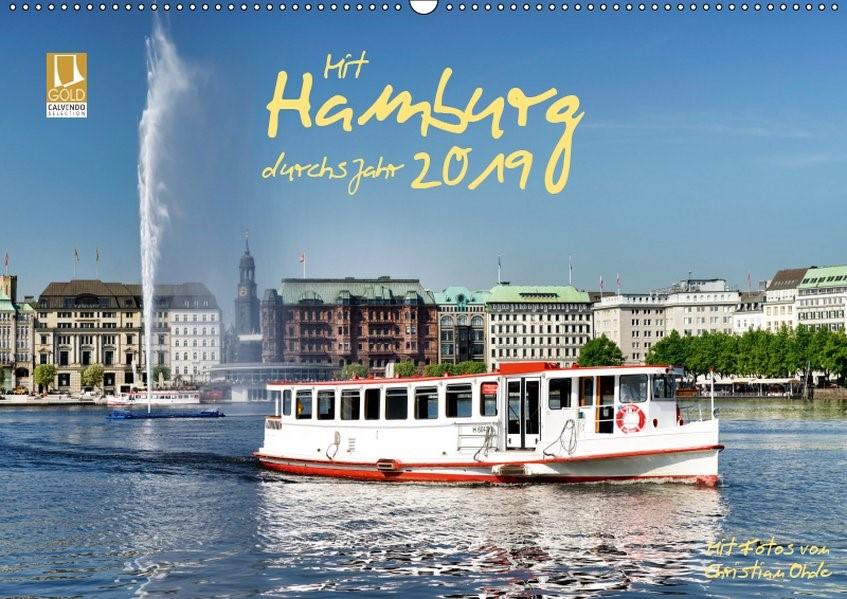 Mit Hamburg durchs Jahr 2019 (Wandkalender 2019 DIN A2 quer) | Ohde | 4. Edition 2018, 2018 (Cover)