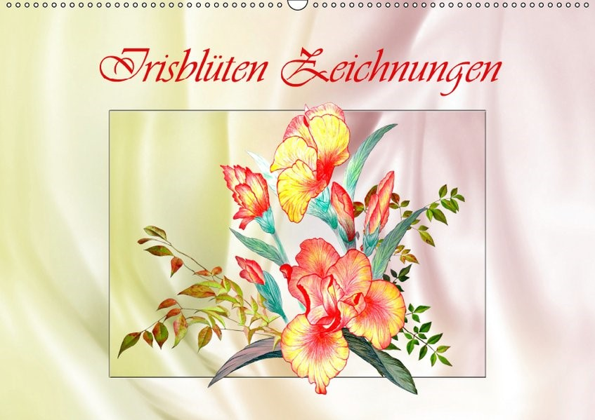 Abbildung von Djeric   Irisblüten Zeichnungen (Wandkalender 2019 DIN A2 quer)   5. Edition 2014   2014