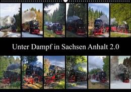 Abbildung von Gierok | Unter Dampf in Sachsen Anhalt 2.0 (Wandkalender 2019 DIN A2 quer) | 3. Edition 2018 | 2018 | Schmalspurbahnen für große und...