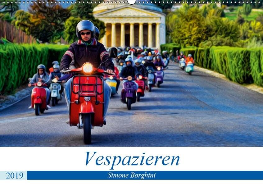 Abbildung von Borghini   Vespazieren (Wandkalender 2019 DIN A2 quer)   3. Edition 2016   2016