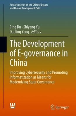 Abbildung von Du / Yu | The Development of E-governance in China | 1. Auflage | 2018 | beck-shop.de