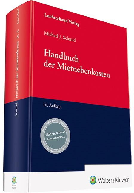 Handbuch der Mietnebenkosten | Schmid | 16. Auflage, 2018 | Buch (Cover)