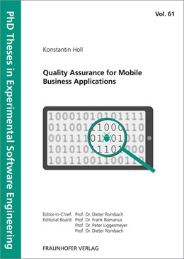 Abbildung von Bomarius / Liggesmeyer / Rombach | Quality Assurance for Mobile Business Applications. | 2018 | 61