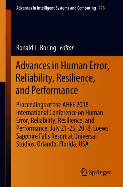 Advances in Human Error, Reliability, Resilience, and Performance | Boring | 1st ed. 2019, 2018 | Buch (Cover)