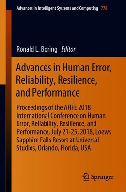 Abbildung von Boring | Advances in Human Error, Reliability, Resilience, and Performance | 1st ed. 2019 | 2018 | Proceedings of the AHFE 2018 I... | 778