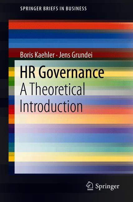 HR Governance | Kaehler / Grundei | 1st ed. 2019, 2018 | Buch (Cover)