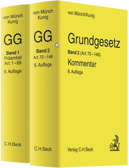 Grundgesetz-Kommentar: GG | von Münch / Kunig | 6., neubearbeitete Auflage, 2012 | Buch (Cover)