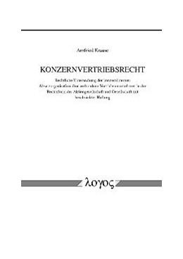 Abbildung von Krause | Konzernvertriebsrecht | 2003 | Rechtliche Untersuchung der ko...