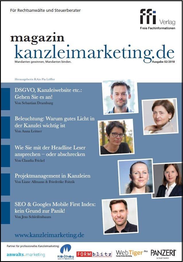 magazin kanzleimarketing.de | 02/2018 (Cover)