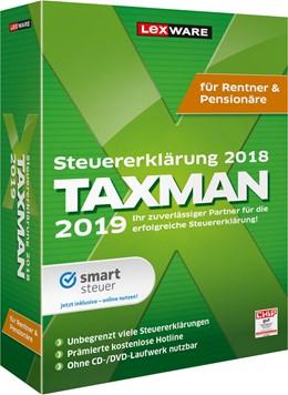 Abbildung von TAXMAN 2019 für Rentner & Pensionäre | Version 25.00 | 2018 | Steuererklärung 2018