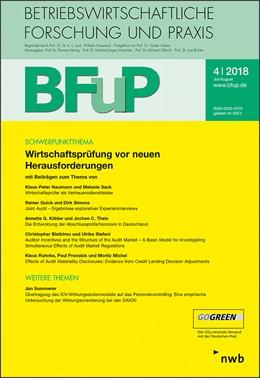Abbildung von Wirtschaftsprüfung vor neuen Herausforderungen | 2018 | BFuP 4/2018