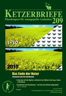 Abbildung von Hoevels / Funke / Joos   Das Ende der Natur   2018   Ketzerbriefe 209 - Flaschenpos...