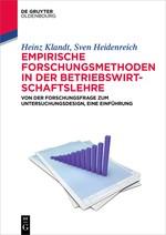 Empirische Forschungsmethoden in der Betriebswirtschaftslehre | Klandt / Heidenreich, 2017 | Buch (Cover)
