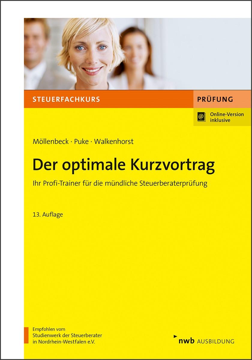 Der optimale Kurzvortrag | Möllenbeck / Puke / Walkenhorst | 13., vollständig überarbeitete Auflage, 2018 (Cover)