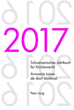 Abbildung von Kraus | Schweizerisches Jahrbuch für Kirchenrecht. Bd. 22 (2017) - Annuaire suisse de droit ecclésial. Vol. 22 (2017) | 1. Auflage | 2018 | beck-shop.de