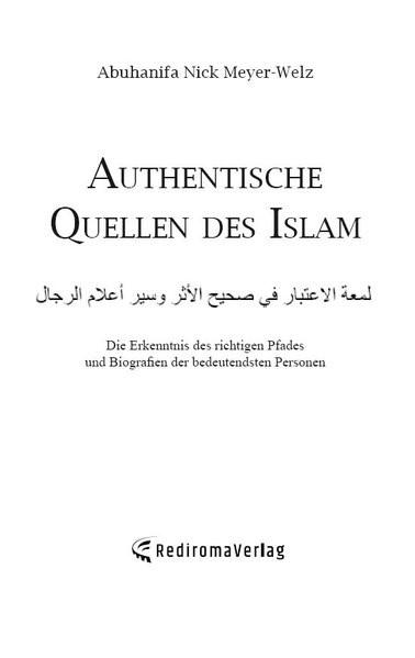 Abbildung von Abuhanifa Nick Meyer-Welz   Authentische Quellen des Islam   2018