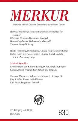 Abbildung von Demand | MERKUR Deutsche Zeitschrift für europäisches Denken Nr. 830, Heft Juli 2018 | 1. Auflage | 2018 | beck-shop.de