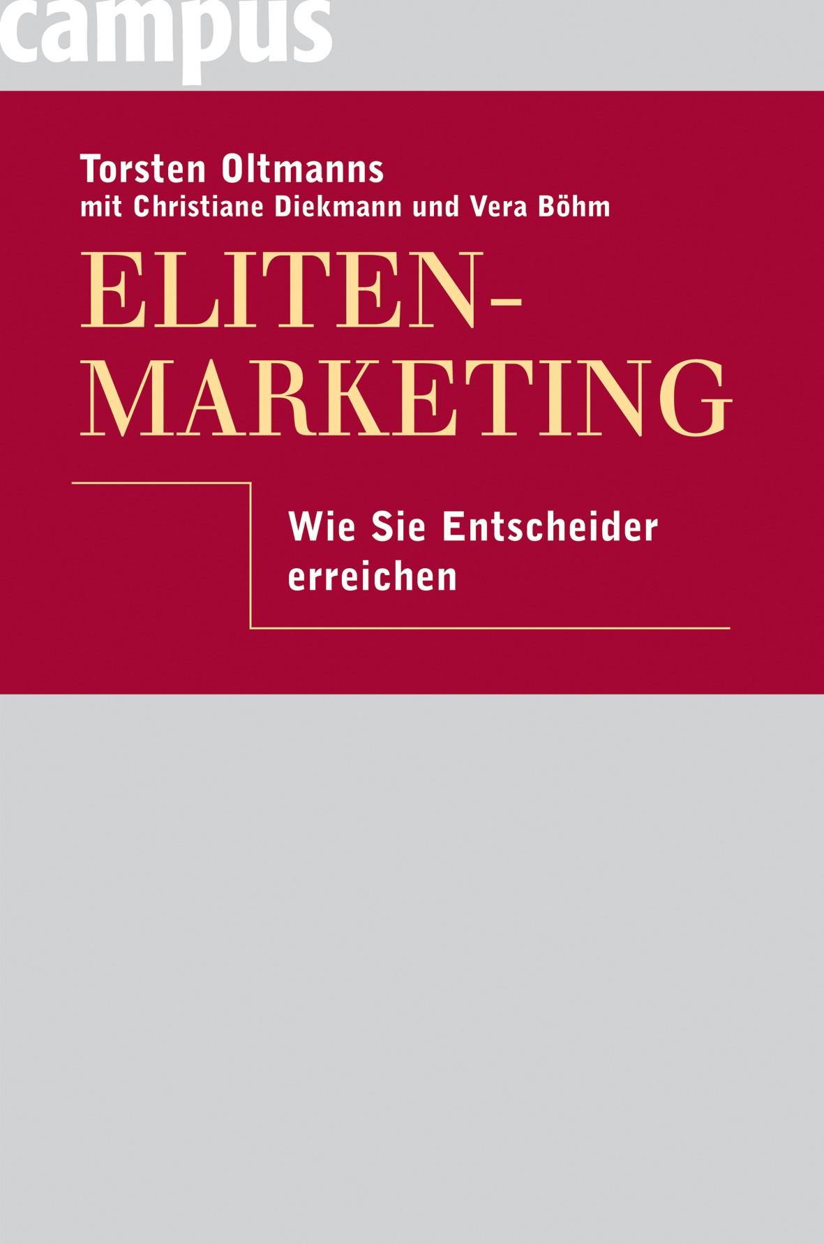 Eliten-Marketing | Oltmanns, 2008 | Buch (Cover)
