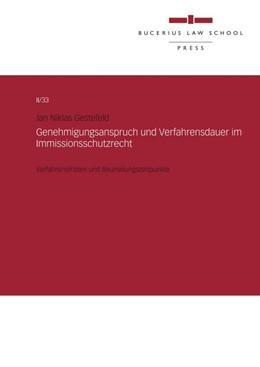 Abbildung von Gestefeld | Genehmigungsanspruch und Verfahrensdauer im Immissionsschutzrecht | 1 | 2018 | Verfahrensfristen und Beurteil...