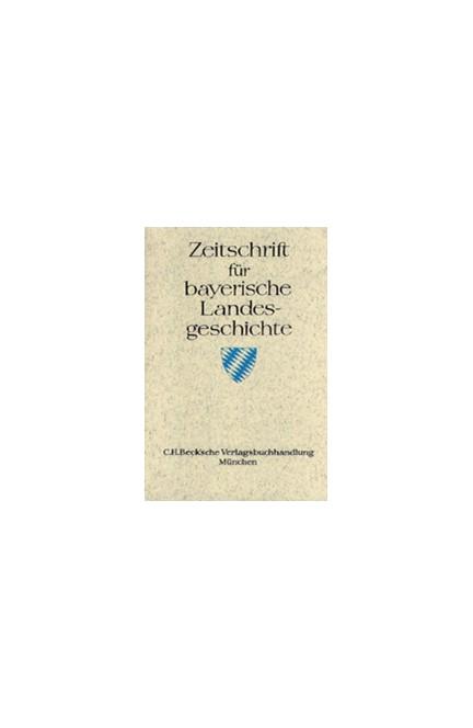 Cover: , Zeitschrift für bayerische Landesgeschichte Band 65 Heft 3/2002