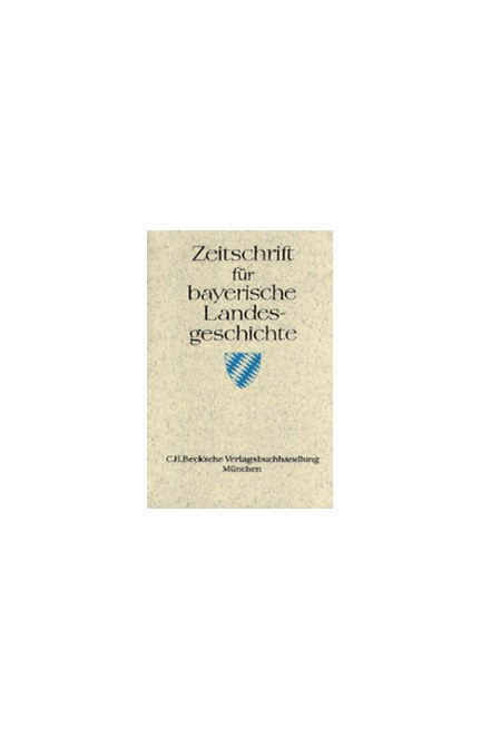 Cover: , Zeitschrift für bayerische Landesgeschichte Band 66 Heft 1/2003