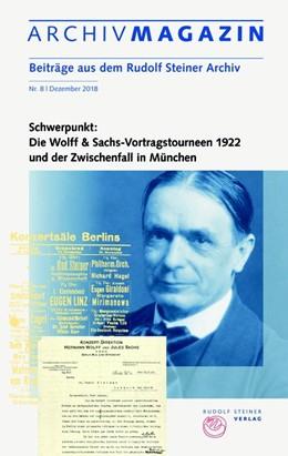 Abbildung von Hoffmann | ARCHIVMAGAZIN. Beiträge aus dem Rudolf Steiner Archiv | 2018 | Nr. 8 / 2018, Wolff & Sachs-Vo...