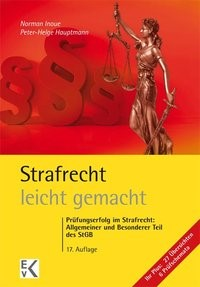 Strafrecht - leicht gemacht® | Inoue / Hassenpflug / Hauptmann | 17., grundlegend überarbeitete  Auflage, 2018 | Buch (Cover)