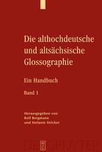 Abbildung von Bergmann / Stricker | Die althochdeutsche und altsächsische Glossographie | 2009