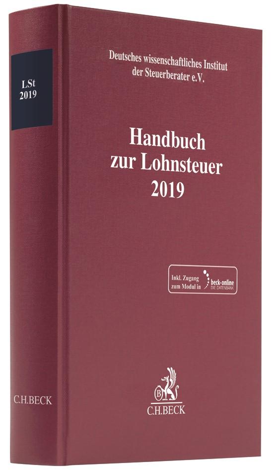 Handbuch zur Lohnsteuer 2019: LSt 2019, 2019   Buch (Cover)