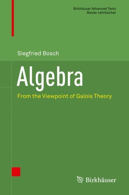 Algebra | Bosch | 1st ed. 2018, 2018 | Buch (Cover)