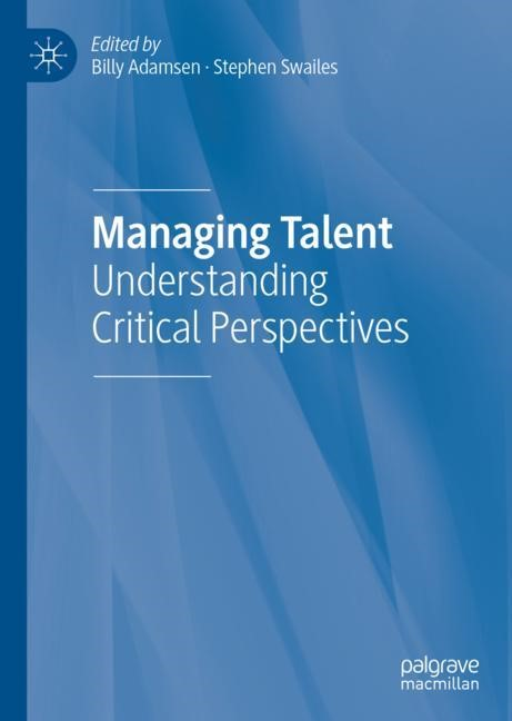 Managing Talent | Adamsen / Swailes | 1st ed. 2019, 2018 | Buch (Cover)