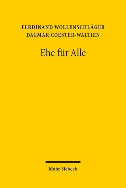 Ehe für Alle | Wollenschläger / Coester-Waltjen, 2018 | Buch (Cover)