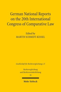 Abbildung von Schmidt-Kessel | German National Reports on the 20th International Congress of Comparative Law | 1. Auflage | 2018