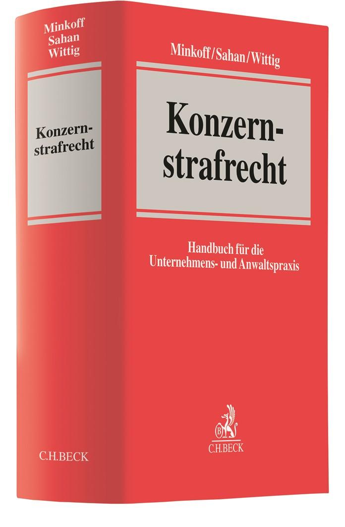 Konzernstrafrecht | Minkoff / Sahan / Wittig, 2019 | Buch (Cover)