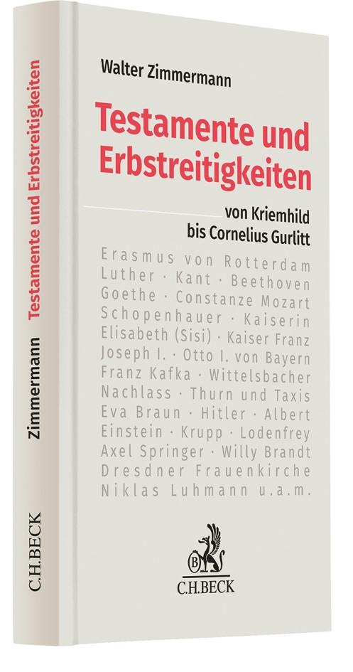 Testamente und Erbstreitigkeiten | Zimmermann, 2018 | Buch (Cover)