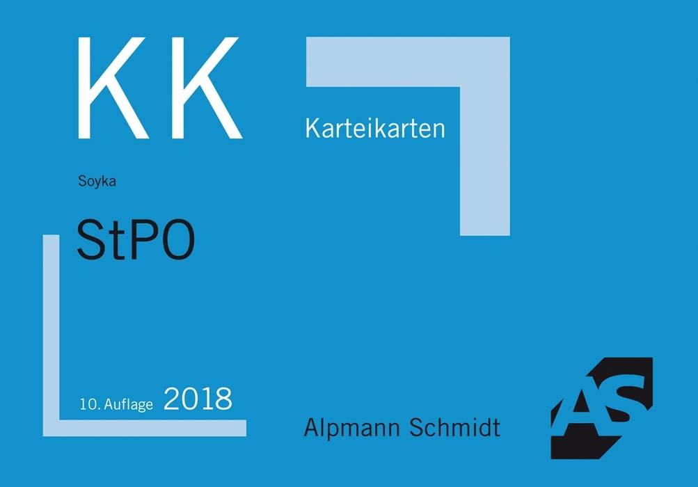 Karteikarten StPO   Soyka   10. aktualisierte Auflage, 2018 (Cover)