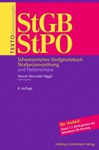 Texto StGB/StPO | Niggli | 8. Auflage, 2018 | Buch (Cover)