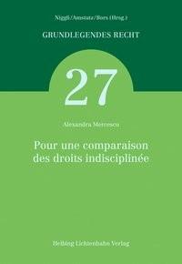 Pour une comparaison des droits indisciplinée | Mercescu, 2018 | Buch (Cover)