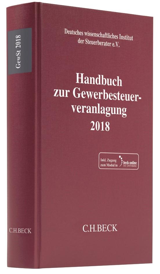 Handbuch zur Gewerbesteuerveranlagung 2018: GewSt 2018, 2019 (Cover)