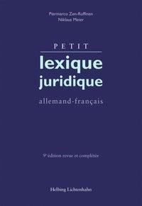 Petit lexique juridique | Zen-Ruffinen / Meier | 9e édition revue et complétée, 2018 | Buch (Cover)