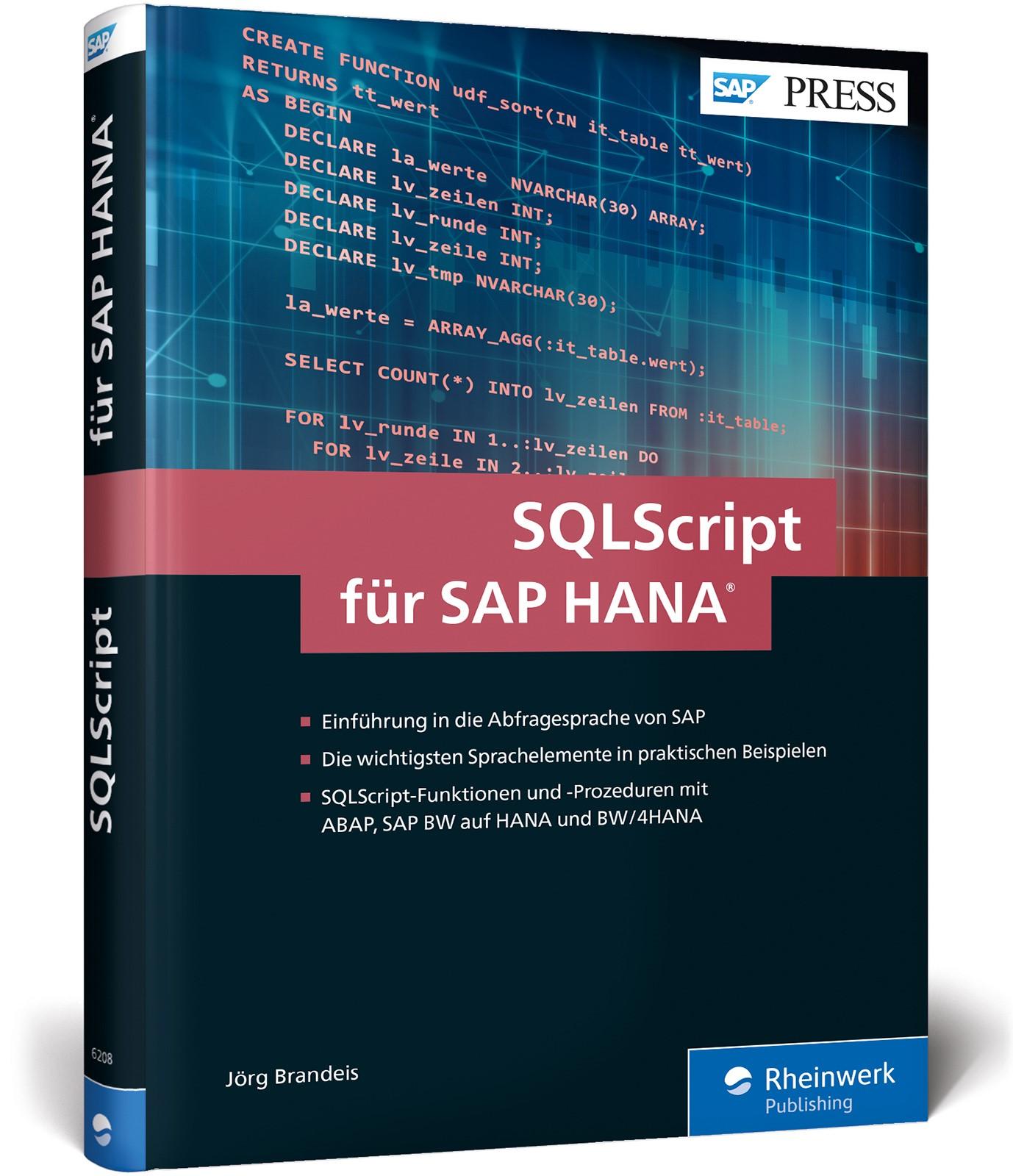 SQLScript für SAP HANA | Brandeis, 2018 | Buch (Cover)