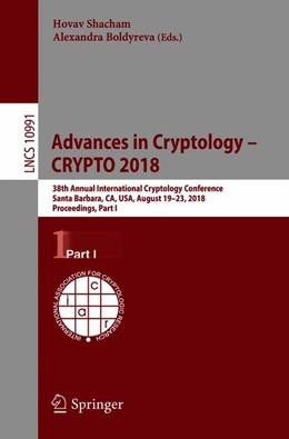 Abbildung von Shacham / Boldyreva | Advances in Cryptology - CRYPTO 2018 | 1. Auflage | 2018 | beck-shop.de