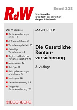 Abbildung von Marburger | Die gesetzliche Rentenversicherung | 3. Auflage | 2018