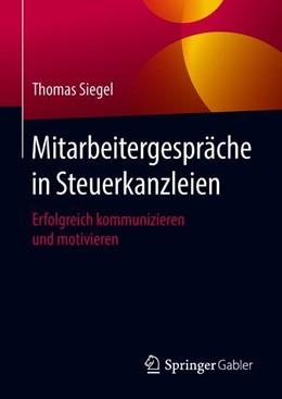 Abbildung von Siegel   Mitarbeitergespräche in Steuerkanzleien   1. Auflage   2018   beck-shop.de