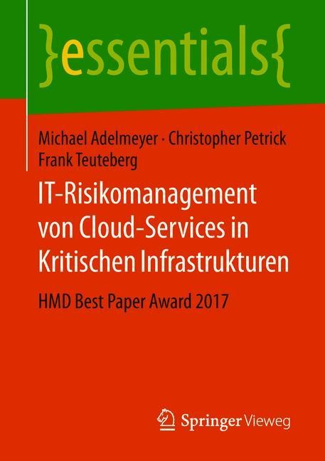 IT-Risikomanagement von Cloud-Services in Kritischen Infrastrukturen | Adelmeyer / Petrick / Teuteberg, 2018 | Buch (Cover)