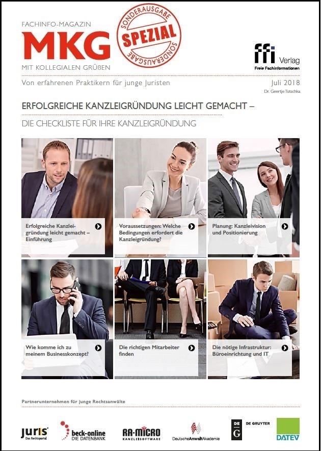 Fachinfo-Magazin  MkG • Sonderausgabe Kanzleigründung leicht gemacht (Cover)