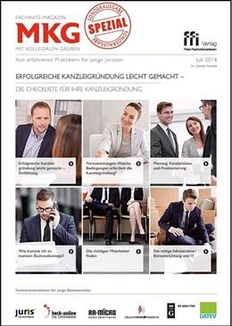 Abbildung von Fachinfo-Magazin MkG • Sonderausgabe Kanzleigründung leicht gemacht | 1. Auflage | 2018 | beck-shop.de