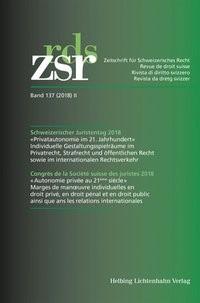 Schweizerischer Juristentag 2018 = Congrès de la Société suisse des juristes 2018, 2018 | Buch (Cover)